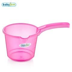 Babyjem Bebek Banyo Maşrapası Şeffaf Pembe