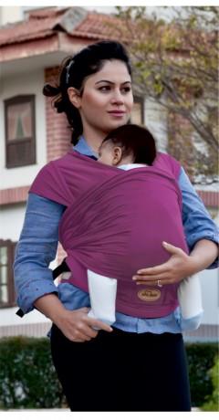 Sevi Bebe Bel Destekli Sling - Bordo