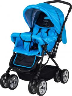 Crystal Baby 212 Mega Bebek Arabası - Mavi