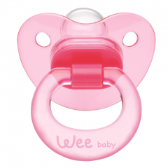 Wee Baby 111 Akide Damaklı Emzik 0-6 Ay - Pembe