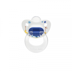 Wee Baby 833 Desenli Damaklı Emzik 0-6Ay - Mavi