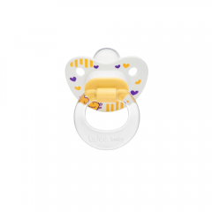 Wee Baby 833 Desenli Damaklı Emzik 0-6Ay - Sarı
