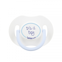Wee Baby 781 Saplı Kapaklı Emzik Damaklı 0-6 Ay - Mavi-0
