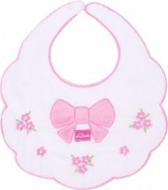 Sevi Bebe Piti Çiçekli Mama Önlüğü Beyaz