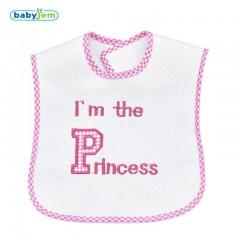 Babyjem Prens Prenses Mama Önlüğü Pembe