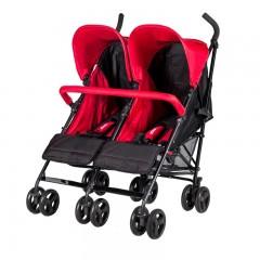Prego 2074 Monart İkiz Bebek Arabası Kırmızı