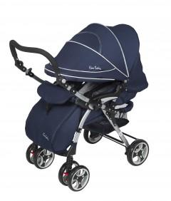 Pierre Cardin PC120 Bolton Çift Yönlü Bebek Arabası Mavi Gri