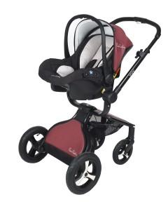 Pierre Cardin PC410 Alias Travel Bebek Arabası Bordo Siyah