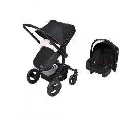 Kanz KZ4012 Proxima Travel Bebek Arabası Siyah-0