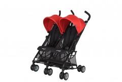 Prego Momentum İkiz Bebek Arabası - Kırmızı