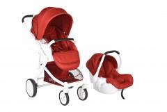 Prego 2042 Titan Travel Set Bebek Arabası Kırmızı