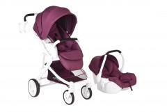 Prego 2042 Titan Travel Set Bebek Arabası Lila