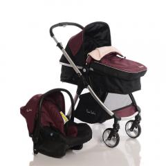 Pierre Cardin Trendy Travel Sistem Bebek Arabası - Bordo