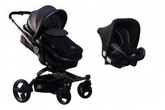 Maller Baby Stella Twist Travel Sistem Bebek Arabası Siyah