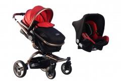 Maller Baby Stella Twist Travel Sistem Bebek Arabası Gold Kırmızı