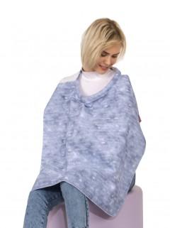 Sevi Bebe Tokalı Anne Emzirme Örtüsü - Kot Desen