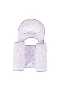 Sevi Bebe Kafa Şekillendirici Yastık & Yan Yatış Yastığı - Mavi Yıldız