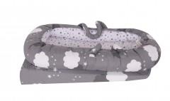 Sevi Bebe Anne Yanı Bebek Reflü Yatağı - Gri Bulut