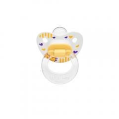 Wee Baby 834 Desenli Damaklı Emzik 6-18Ay - Sarı