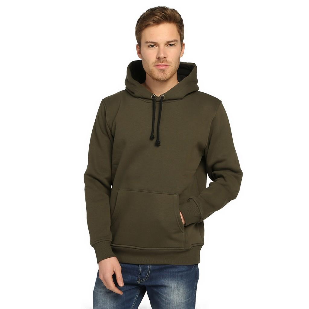 7 Renk Kışlık Kalın Kapşonlu Erkek Sweatshirt Hoodie