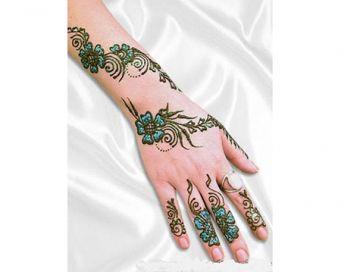 Renkli Dövme Hint Kınası