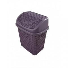 İtmeli Çöp Kovası Örgü Desen 4,5 Lt. 7030S