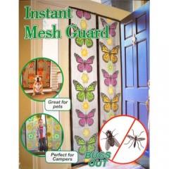 Kelebek Desenli Mıknatıslı Kapı Sinekliği 90x210 cm 12348S