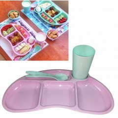 Modatools Çocuk Yemek Plastik Tabldot Set 4 Parça 13262S