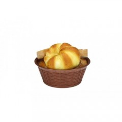 Hasır Desenli Yuvarlak Ekmek Sepeti 19,5 Cm  4880S