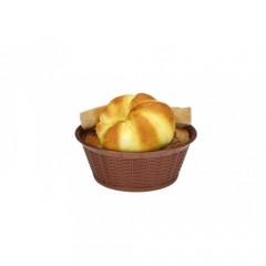Hasır Desenli Yuvarlak Ekmek Sepeti 23,5 Cm  4882S