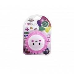 Modatools Led Gece Lambası Güzen Yüz Emoji Çiçek Motifli 12692S