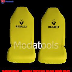 Renault Oto Koltuk Servis Kılıfı Ön Arka Takım Sarı Penye Kumaş SK194