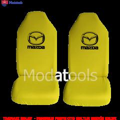 Mazda Oto Koltuk Servis Kılıfı Ön İkili Sarı Penye Kumaş SK393