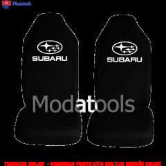 Subaru Oto Koltuk Servis Kılıfı Ön İkili Siyah Penye Kumaş SK470
