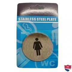 Paslanmaz Çelik Bayan Kadın Wc Kapı Tabelası 12005S