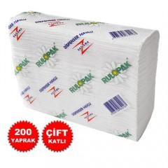 Rulopak Z Katlama Kağıt Havlu 12x200 (Koli)-1
