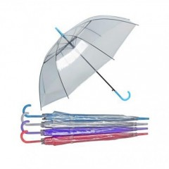 Şemsiye Renkli Şeffaf 8097S