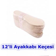 Ayakkabı Keçesi Astarlı 12'li 20528