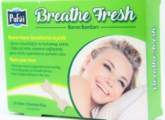 Pufai Breathe Fresh Burun Bandı Standart Boy 55 Mm 16 Mm 10 Adet