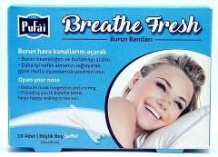 Pufai Breathe Fresh Burun Bandı Şeffaf Büyük Horlama Son 10 Adet