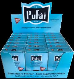 Pufai Slim Sigara Filtresi Ağızlığı. 25 Adet Turkuaz Kutu Içerisinde .