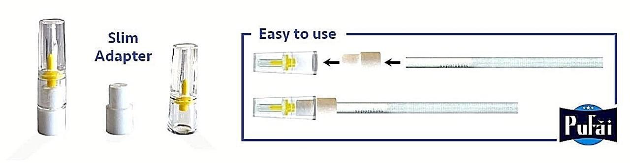 Pufai Süper Slim Sigara Filtresi 5 Mm 6 Mm Uyumlu Ağızlık 1000 Ad