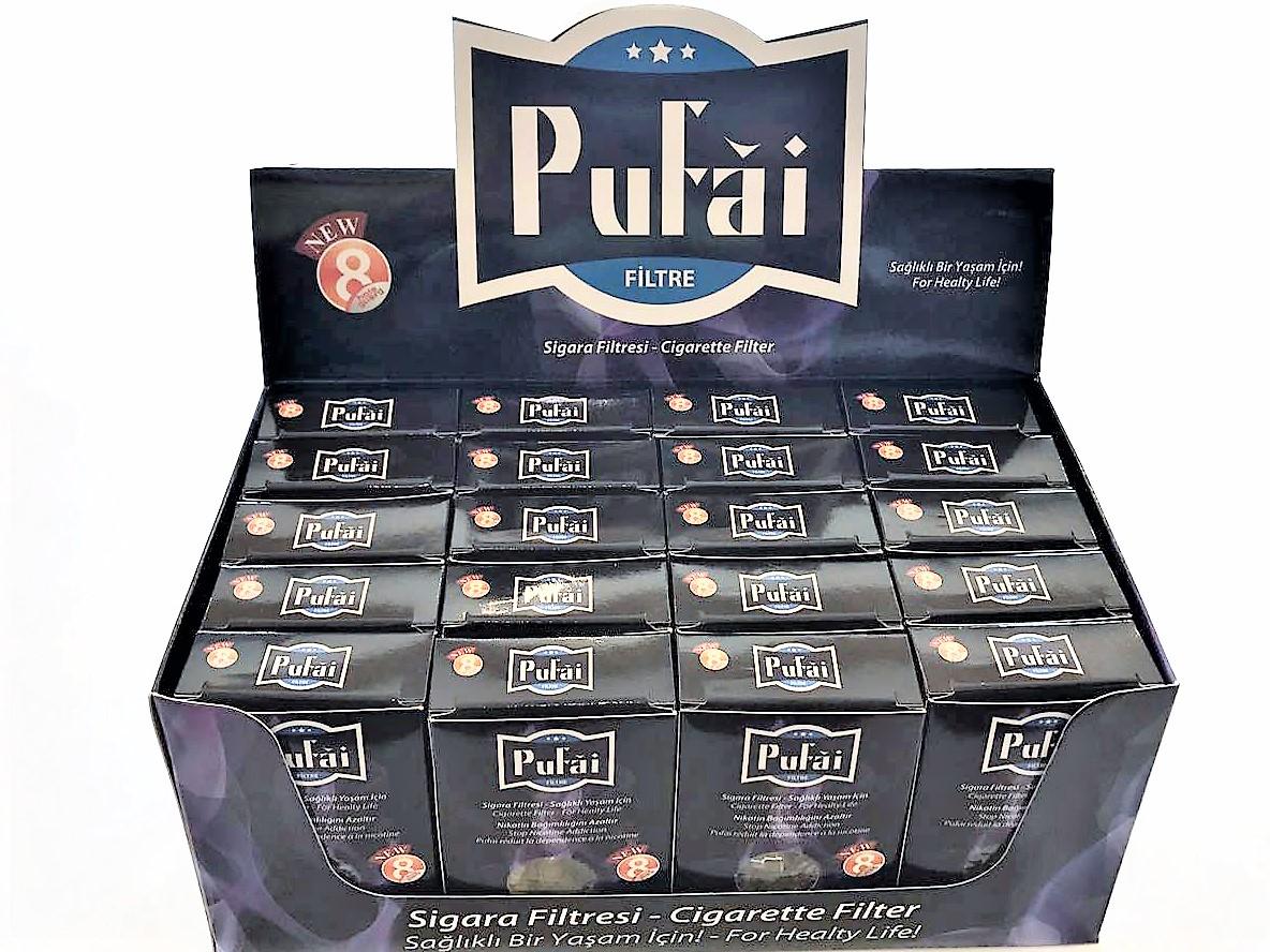 Pufai Sigara Filtresi 8 Mm Standart Boy Ağızlık 600 Adet 20 Kutu