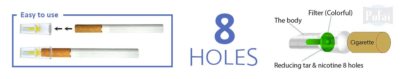 Pufai Sigara Filtresi Normal Boy 8mm Uyumlu Ağızlık 150 Adet
