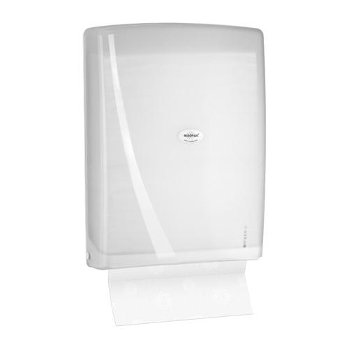 Rulopak Modern Z Katlı 400 'Lü Havlu Dispenseri Transparan Beyaz