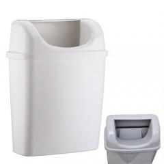 Rulopak Duvara Monte Plastik Çöp Kovası (Beyaz)-1