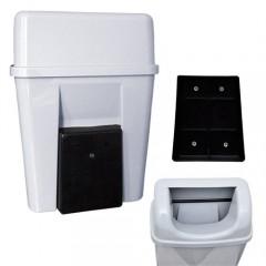 Rulopak Duvara Monte Plastik Çöp Kovası (Beyaz)-2