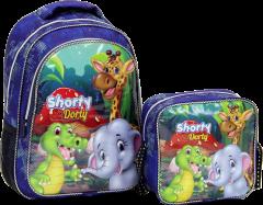 Shorty, Beslenmeli İlkokul Çantası, Kabartmalı Baskı