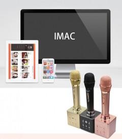 Chmph KTV-CM08 Çıkartılabilir Hoparlör Karaoke Mikrofon Gold