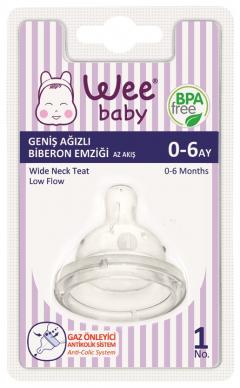 Wee Baby 828 Geniş Ağızlı Biberon Emziği Az Akış 0-6 Ay